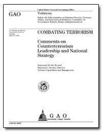 Combating Terrorism Comments on Countert... by Decker, Raymond J.