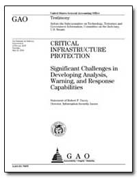 Critical Infrastructure Protection Signi... by Dacey, Robert F.