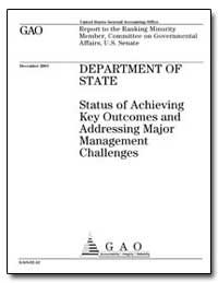 Department of State Status of Achieving ... by General Accounting Office