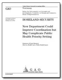 Homeland Security New Department Could I... by Heinrich, Janet