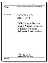 Homeland Security Ins Cannot Locate Many... by General Accounting Office