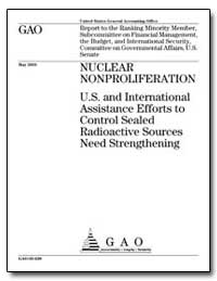 Nuclear Nonproliferation U.S. And Intern... by General Accounting Office
