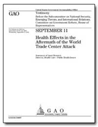 September 11 Health Effects in the After... by Heinrich, Janet