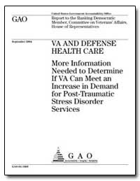 Va and Defense Health Care More Informat... by General Accounting Office