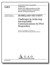 Homeland Security Challenges in Achievin... by Jenkins, William O.
