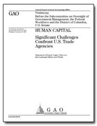 Human Capital Significant Challenges Con... by Yager, Loren