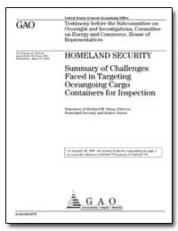 Homelandsecurity Summary of Challenges F... by Stana, Richard M.