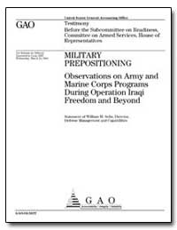 Military Prepositioning : Observations o... by Solis, William M.