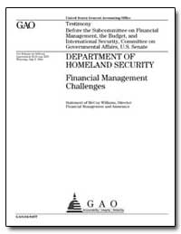 Department of Homeland Security Financia... by Williams, Mccoy