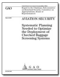 Aviation Security Systematic Planning Ne... by General Accounting Office