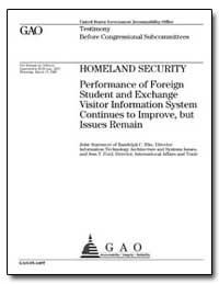 Homeland Security Performance of Foreign... by Hite, Randolph C.