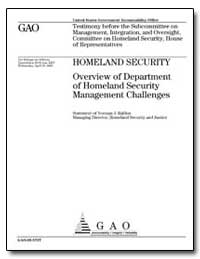Homeland Security Overview of Department... by Rabkin, Norman J.