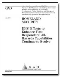 Homeland Security Dhs Efforts to Enhance... by General Accounting Office