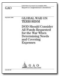 Global War on Terrorism Dod Should Consi... by General Accounting Office