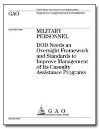 Dod Needs an Oversight Framework and Sta... by General Accounting Office