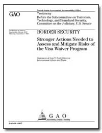 Border Security Stronger Actions Needed ... by Ford, Jess T.