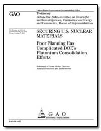 Securing U.S. Nuclear Materials Poor Pla... by Aloise, Gene