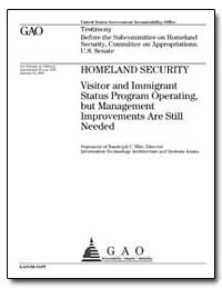 Visitor and Immigrant Status Program Ope... by Hite, Randolph C.