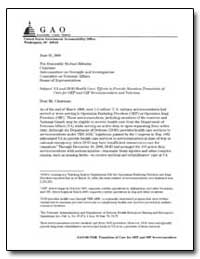 Va and Dod Health Care : Efforts to Prov... by Bascetta, Cynthia A.