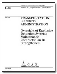 Oversight of Explosive Detection Systems... by General Accounting Office