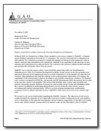 Department of State Contract for Securit... by Schinasi, Katherine V.