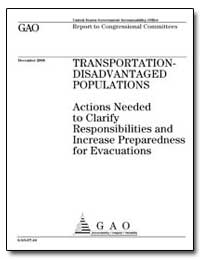 Actions Needed to Clarify Responsibiliti... by General Accounting Office