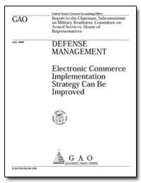 Electronic Commerce Implementation Strat... by General Accounting Office