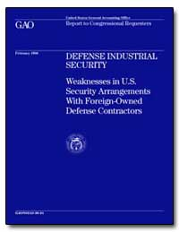 Defense Industrial Security Weaknesses i... by Cooper, David E.