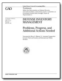 Problems, Progress, And Additional Actio... by Hinton, Henry L., Jr.