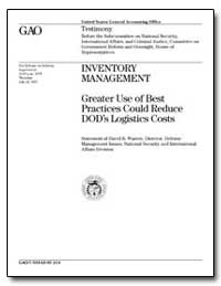 Inventory Management Greater Use of Best... by Warren, David R.