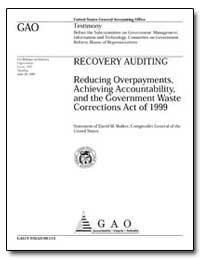 Reducing Overpayments, Achieving Account... by Walker, David M.