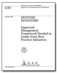 Improved Management Framework Needed to ... by Warren, David R.