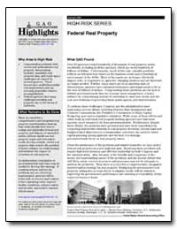 High-Risk Series Federal Real Property by General Accounting Office