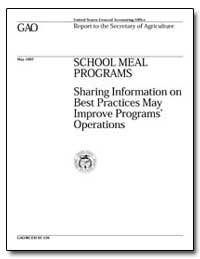 School Meal Programs Sharing Information... by Robinson, Robert A.