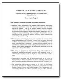 Commercial Activities Panel (Cap) Nation... by Ruggieri, James Angelo