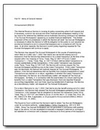 Part IV : Items of General Interest Anno... by United States Department of the Treasury