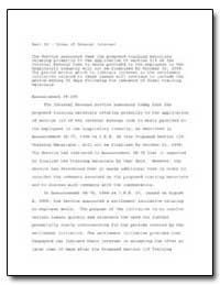 Part IV : Items of General Interest by United States Department of the Treasury