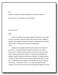 Part I. Section 355.Distribution of Stoc... by United States Department of the Treasury