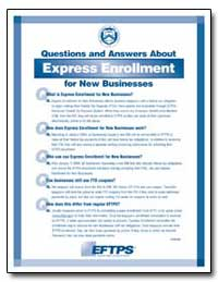 Questions and Answers about Express Enro... by United States Department of the Treasury