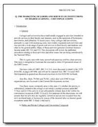 Q. The Marketing of Goods and Services b... by United States Department of the Treasury
