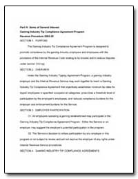 Part IV : Items of General Interest Gami... by United States Department of the Treasury