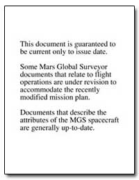Mars Global Surveyor: Mission Operations... by National Aeronautics and Space Administration