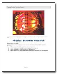 Theme: Physical Sciences Research by National Aeronautics and Space Administration