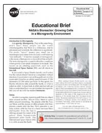 Educational Brief : Nasa's Bioreactor : ... by National Aeronautics and Space Administration