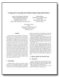 An Approach to Generating and Verifying ... by Rash, James L.