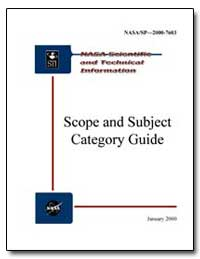 Scope and Subject Category Guide by National Aeronautics and Space Administration
