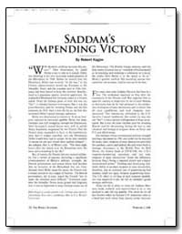 Saddams Impending Victory by Kagan, Robert