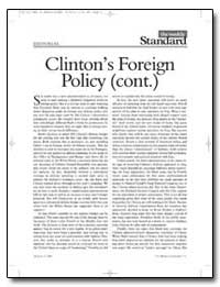 Clinton's Foreign Policy Cont by New American Century