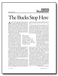 The Bucks Stop Here by Kagan, Robert