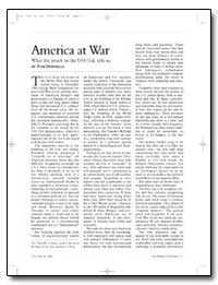 America at War What the Attack on the Us... by Donnelly, Thomas